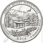 США 25 центов 2014D (арт229) 21-й Парк Great Smoky Mountains